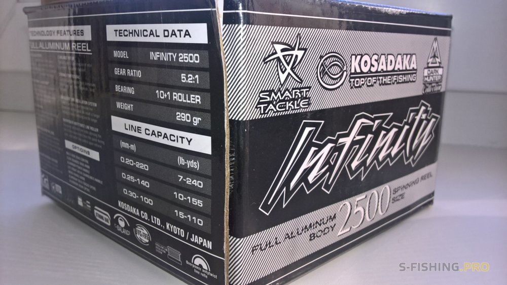 Обзоры: Первые впечатления о катушке Kosadaka Infinity