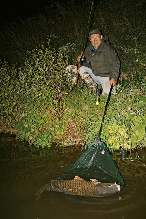 ловля ночью весной