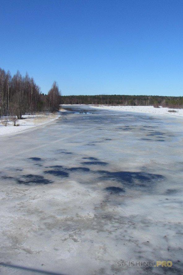 Отчеты с водоемов: Экспедиция по рекам Карелии 13-14 апреля 2018 года.  Источник: http://s-fishing.pro/
