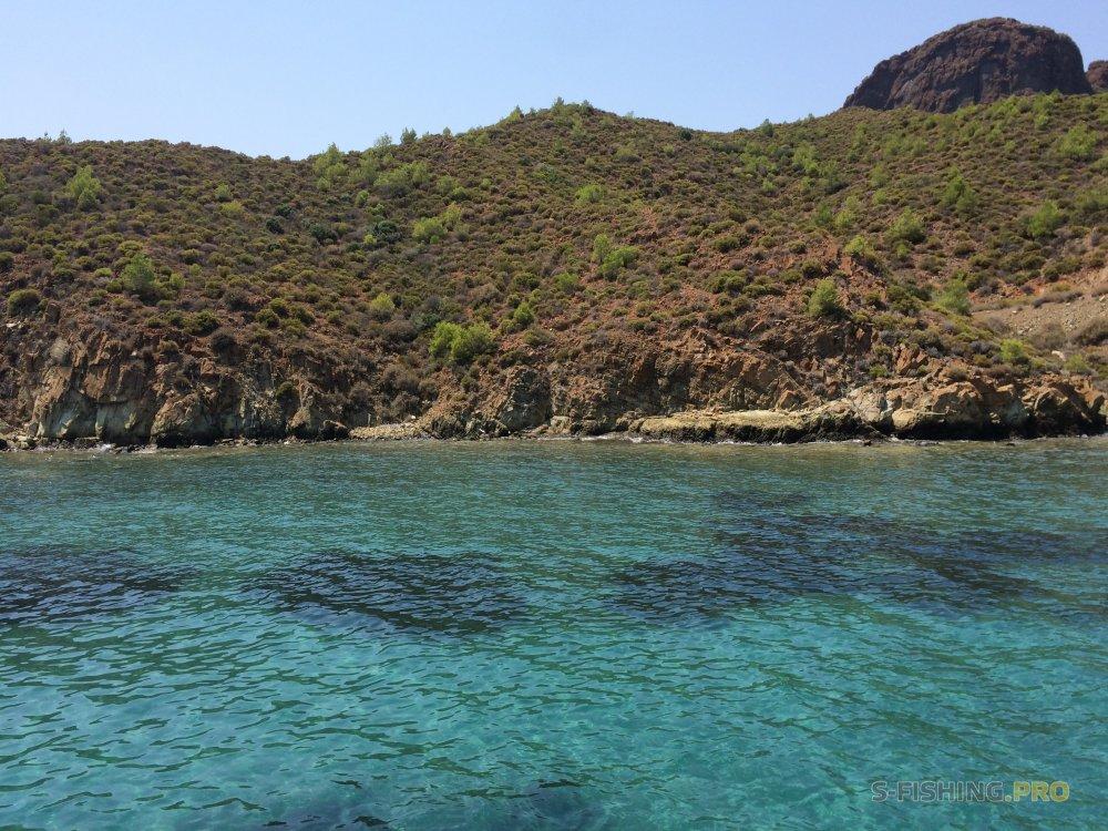 Отчеты с водоемов: Морская рыбалка в Турции с берега.