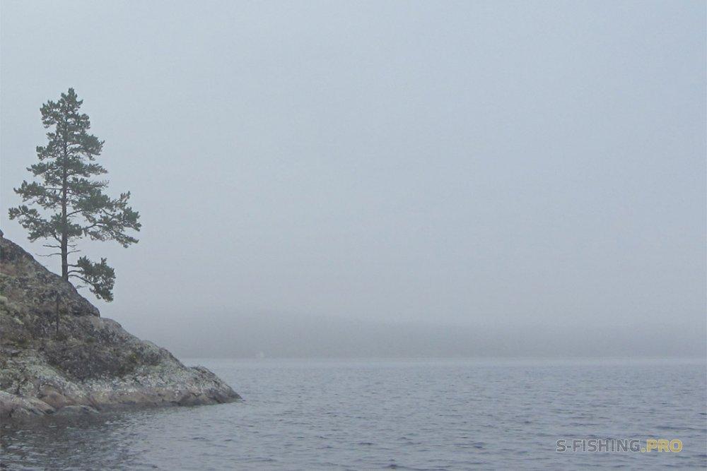 Отчеты с водоемов: Ладога туманная. Рыбалка среди шхер (скалистых островов ).