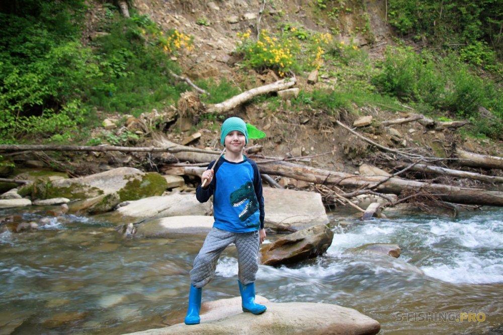 Отчеты с водоемов: Ловим с сыном горного голавля.