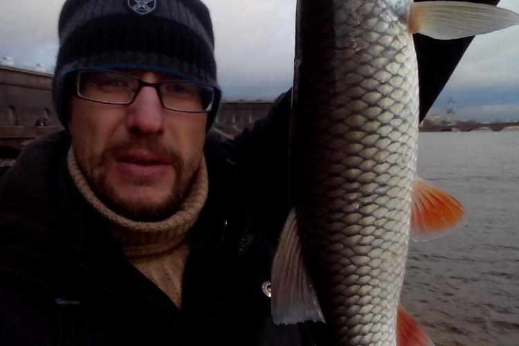 Рыбалка на Неве в декабре