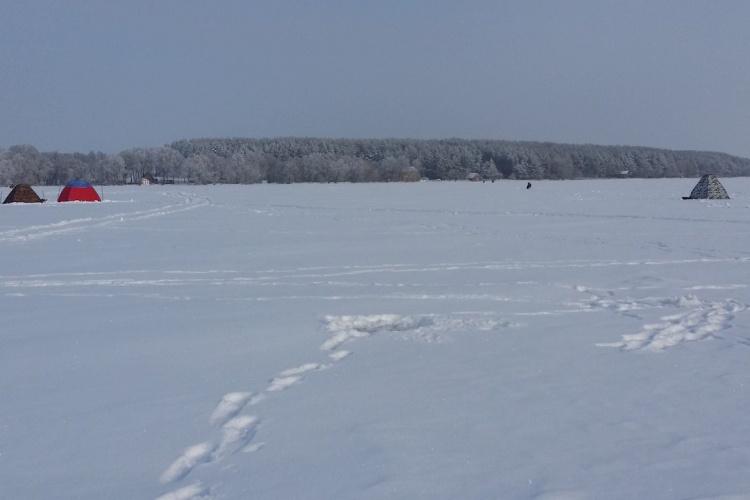 Рыбалка на Михайловском водохранилище, г. Железногорск (23.01.2016)