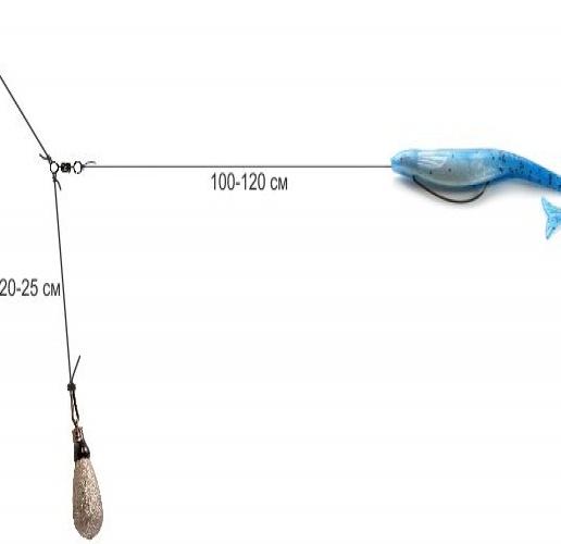 ловля окуня на отводной поводок на водохранилище