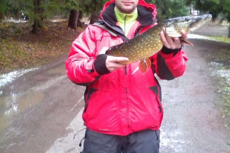 Домашняя Рыбалка поздней осенью.