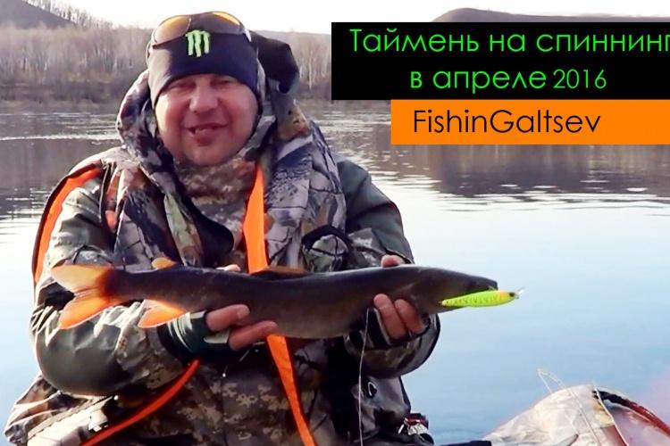Таймень на спиннинг в апреле 2016 FishinGaltsev