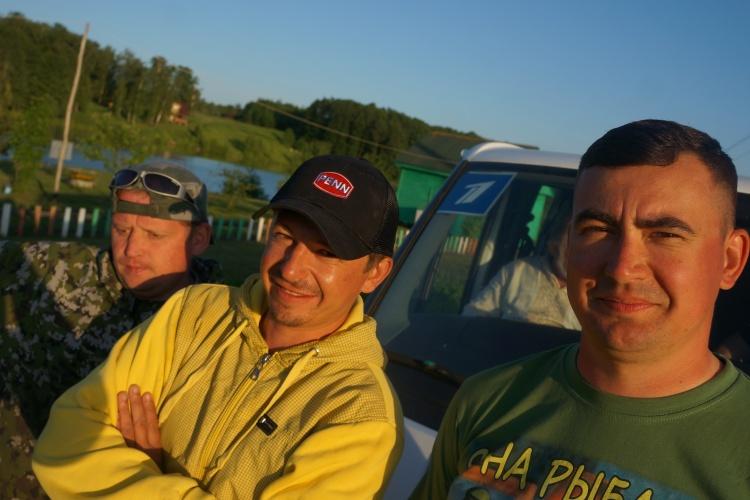 Рыбалка и съемки на Первом
