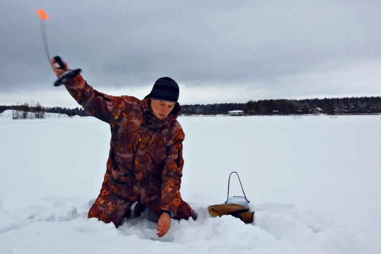 Щука - зимняя рыбалка на жерлицы!