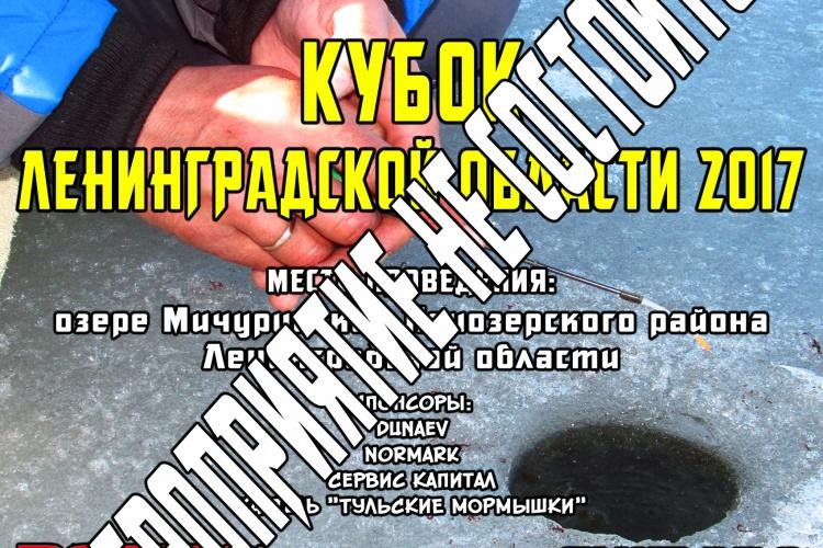 Соревнование по ловле рыбы со льда «Кубок Ленинградской области 2017»