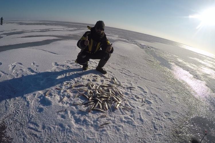 Лучшая рыбалка на Корюшку.Финский залив,Северный берег.