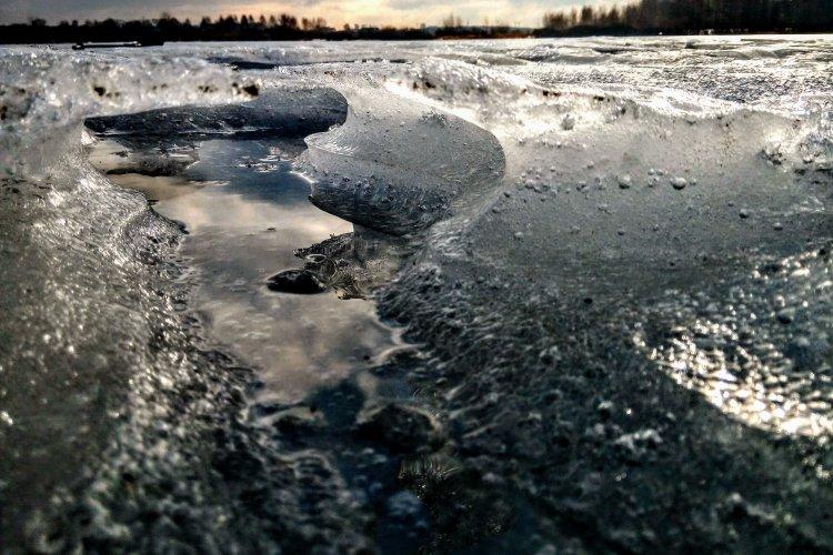 """Погода - """"сказка"""", озеро Спасское."""